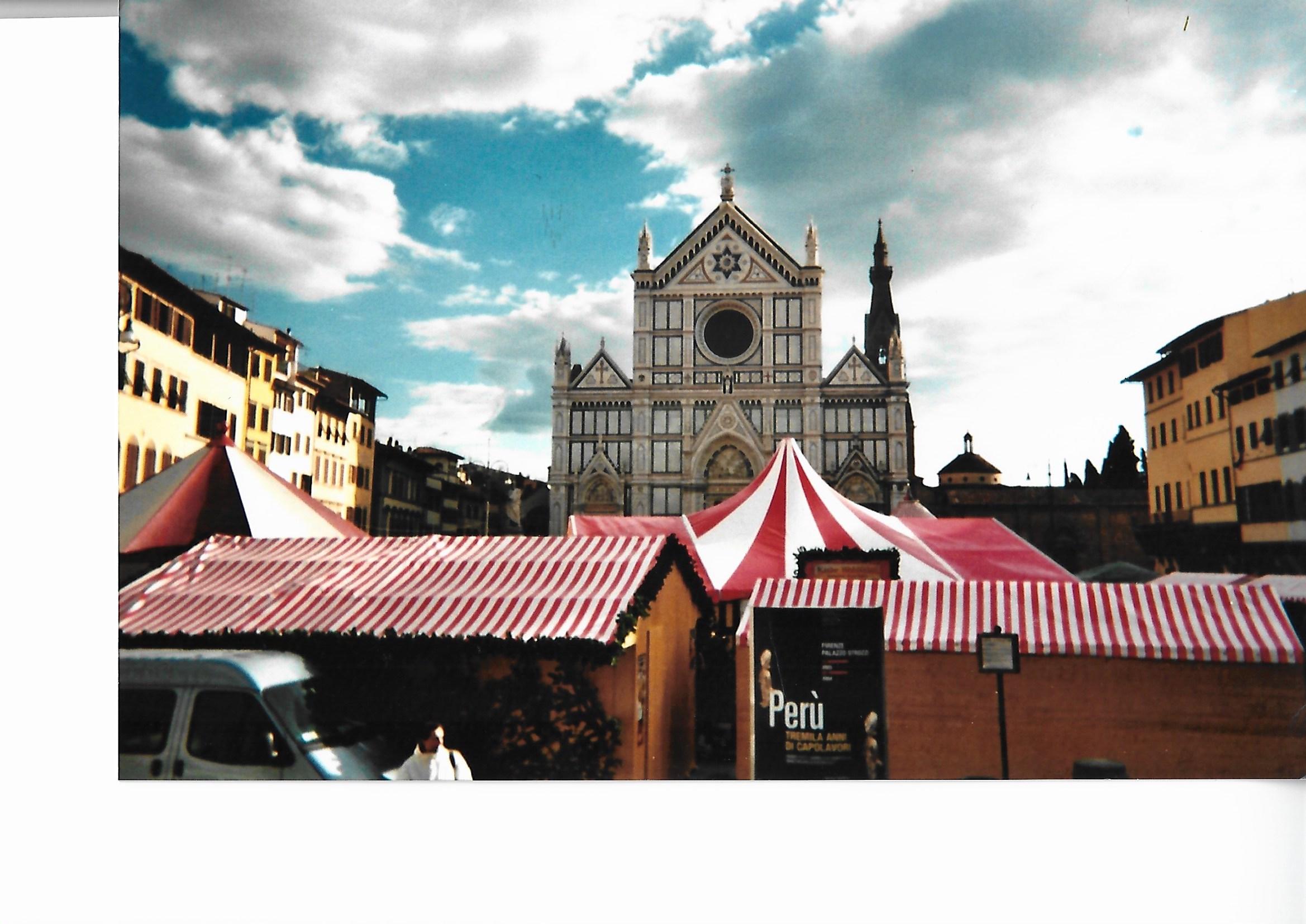 Buden Florenz von oben